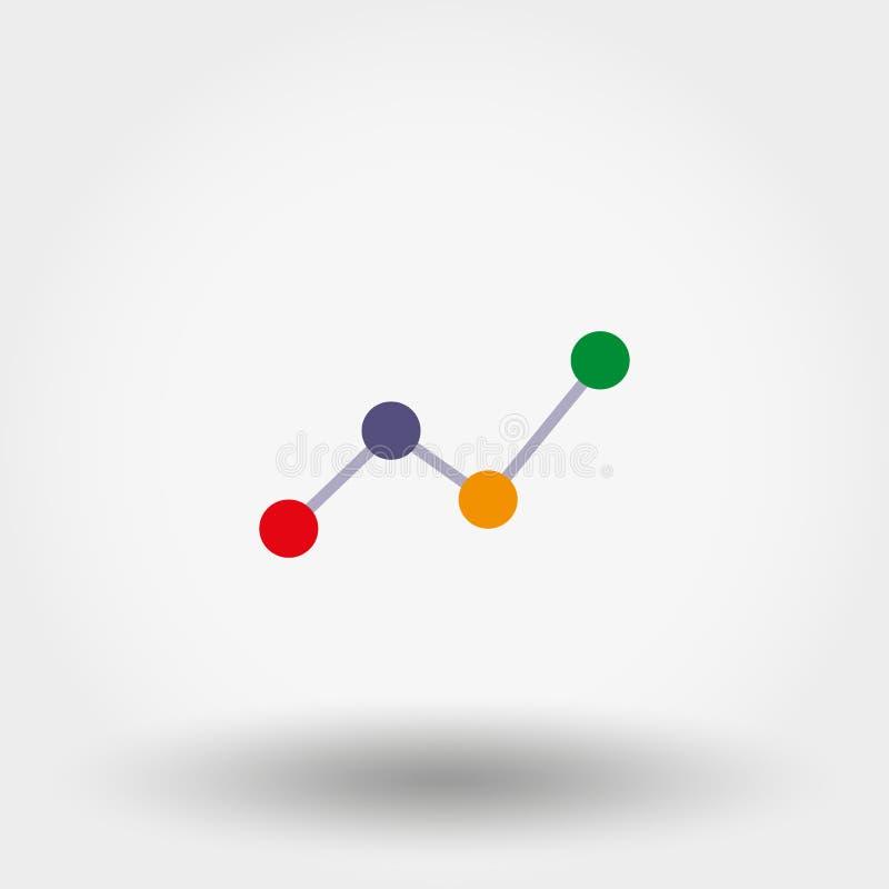 图表,绘制 图标 向量例证