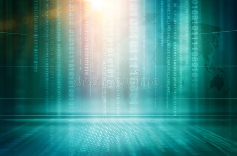 图解抽象计算机科技背景概念系列 向量例证