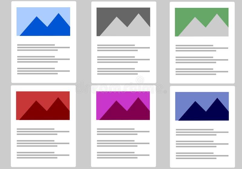 图解文本和图象内容例证板料  库存例证