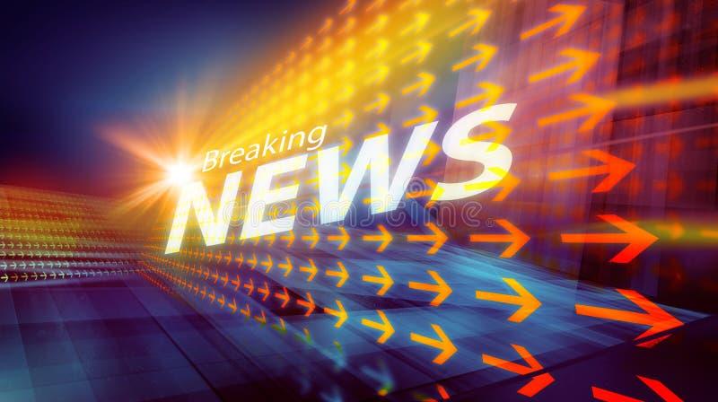 图解现代数字式国际新闻背景III 皇族释放例证