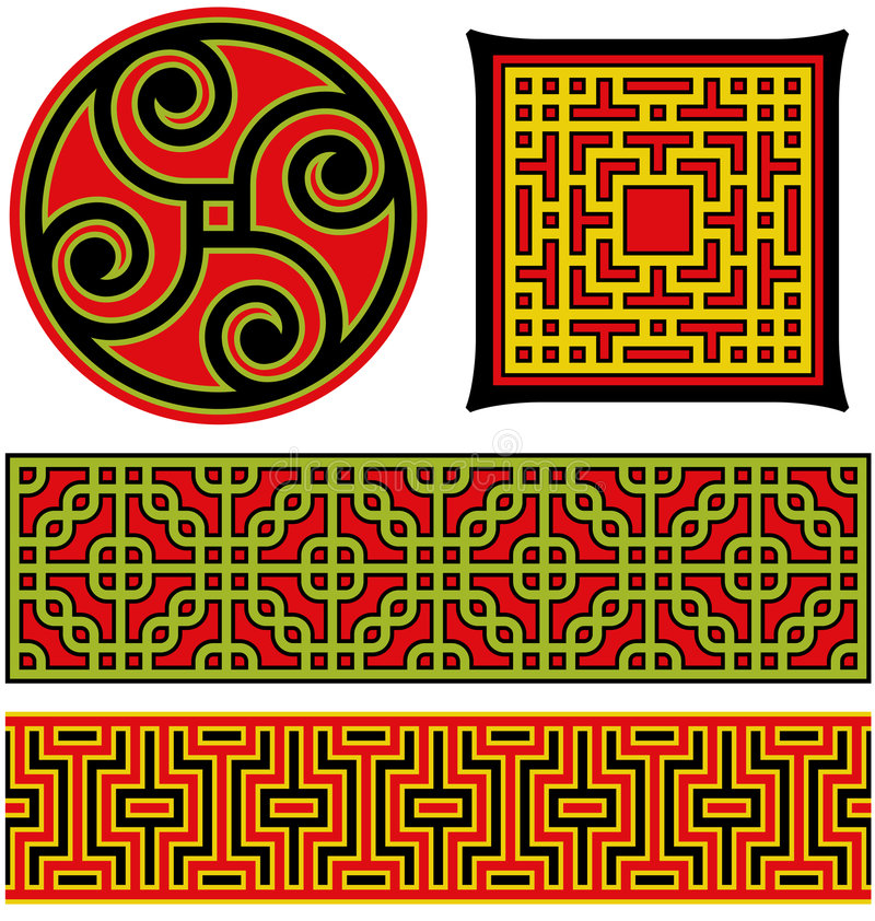 图象中国的要素 皇族释放例证