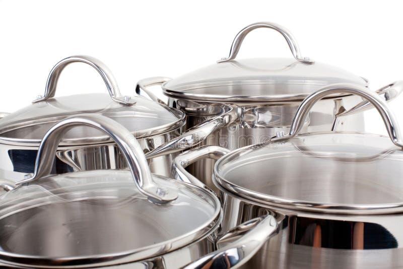 图象厨房平底锅系列商品 免版税库存图片