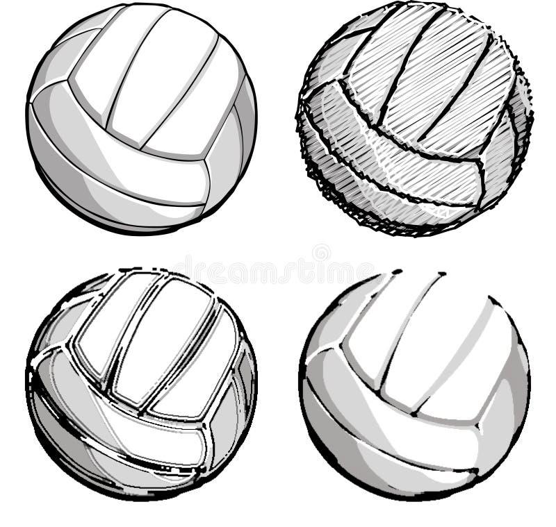 图象向量排球排球 向量例证