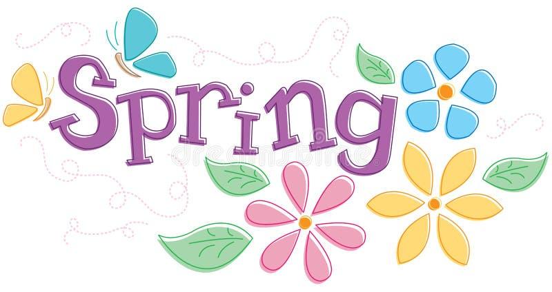 图象季节性春天 向量例证