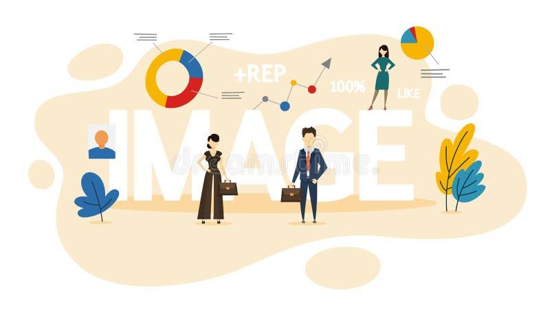 图象概念 个人品牌和名誉想法  库存例证