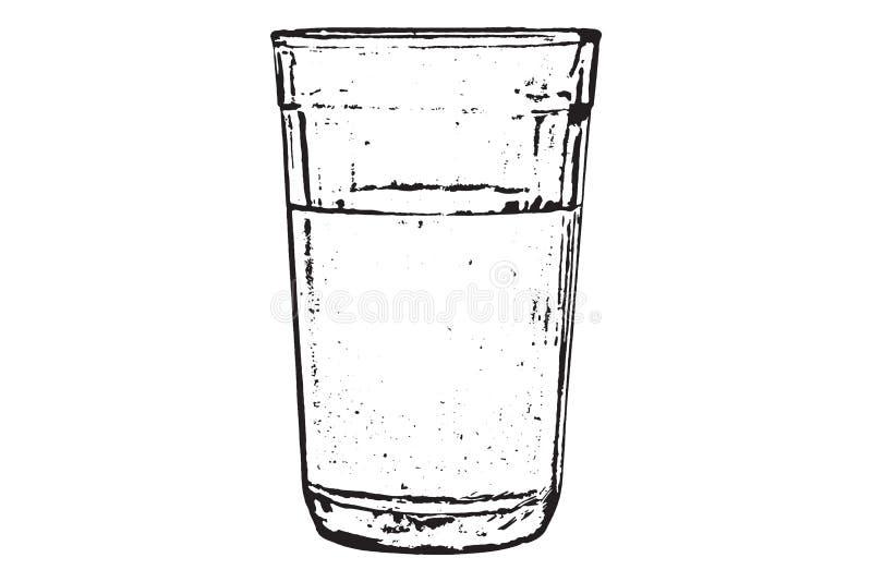 图象每与净水的玻璃 库存照片