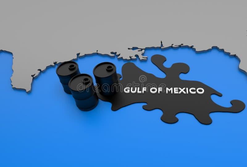 图象海湾墨西哥石油 皇族释放例证