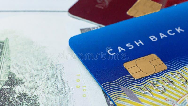 图象的信用卡关闭企业内容的 库存图片