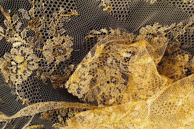 图象纹理背景,与样式的装饰金鞋带 Gol 免版税库存照片