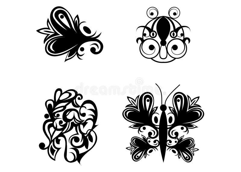 图象范例tatoo 皇族释放例证