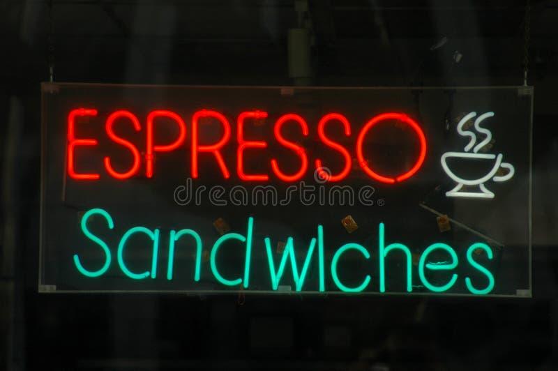 图象霓虹餐馆零售符号 免版税库存照片