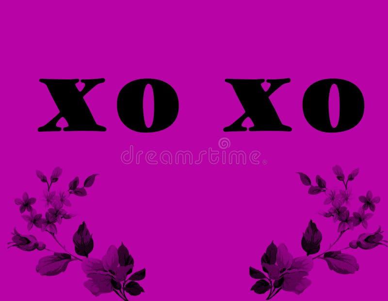 图象` xo xo `的图象例证的例证 华伦泰字法爱汇集 完善在情人节, w 向量例证