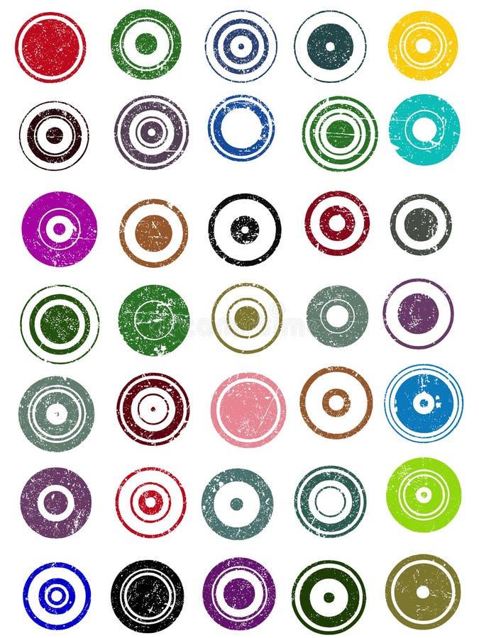 图象35个圈子的要素 库存例证