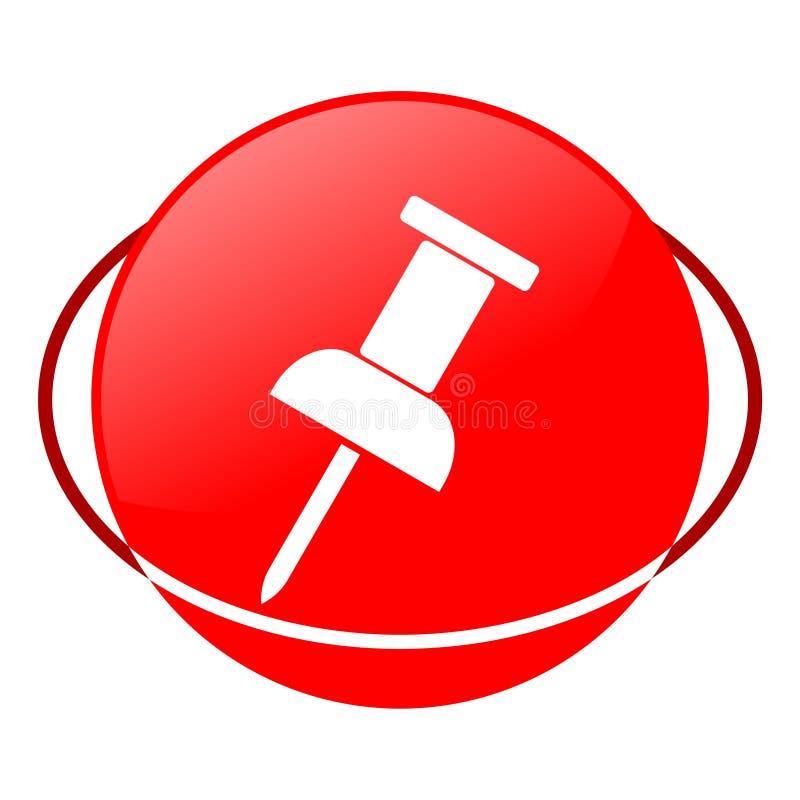 图钉传染媒介例证,红色象 向量例证