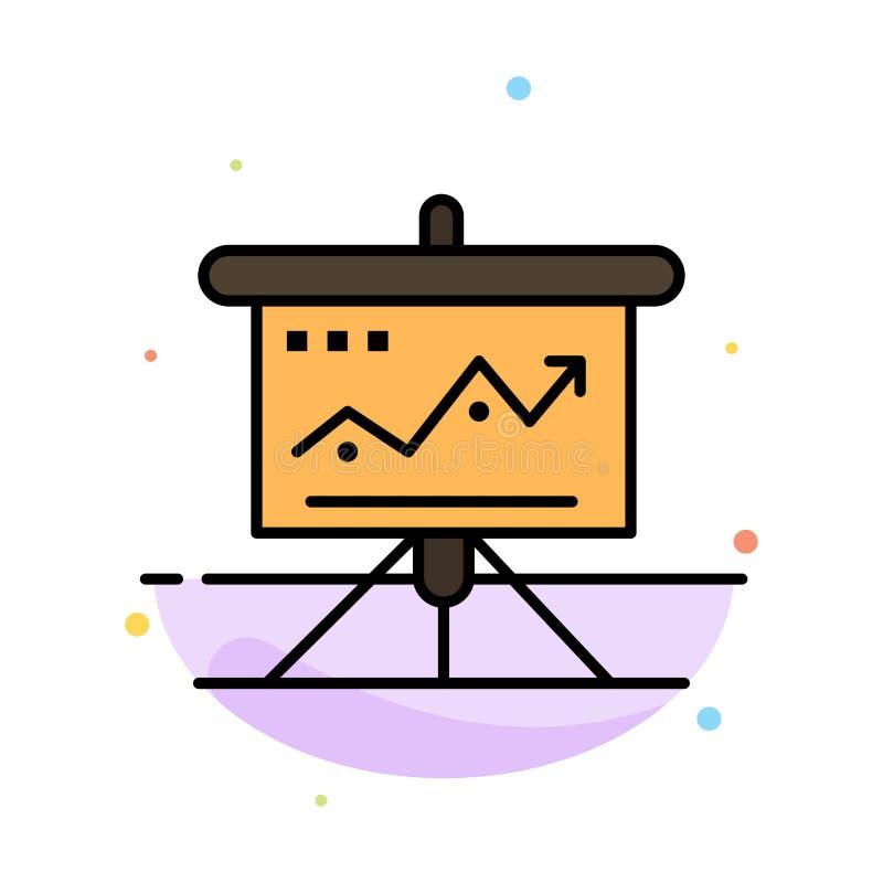 图,事务,挑战,营销,解答,成功,战术提取平的颜色象模板 库存例证