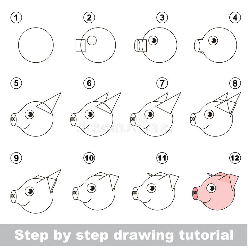 图画孩子讲解 库存例证
