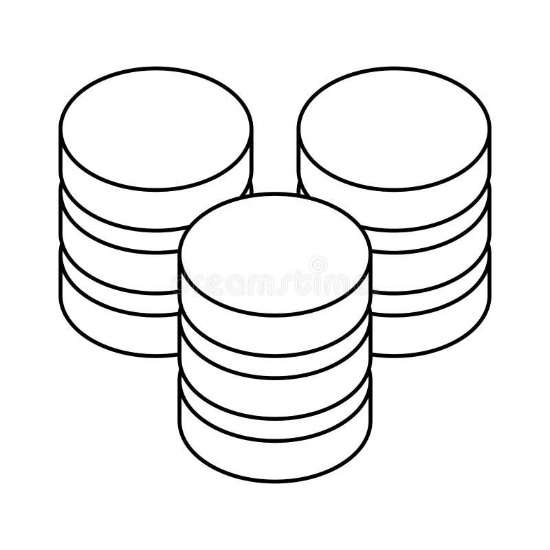 图主持象图象设计的数据库 库存例证