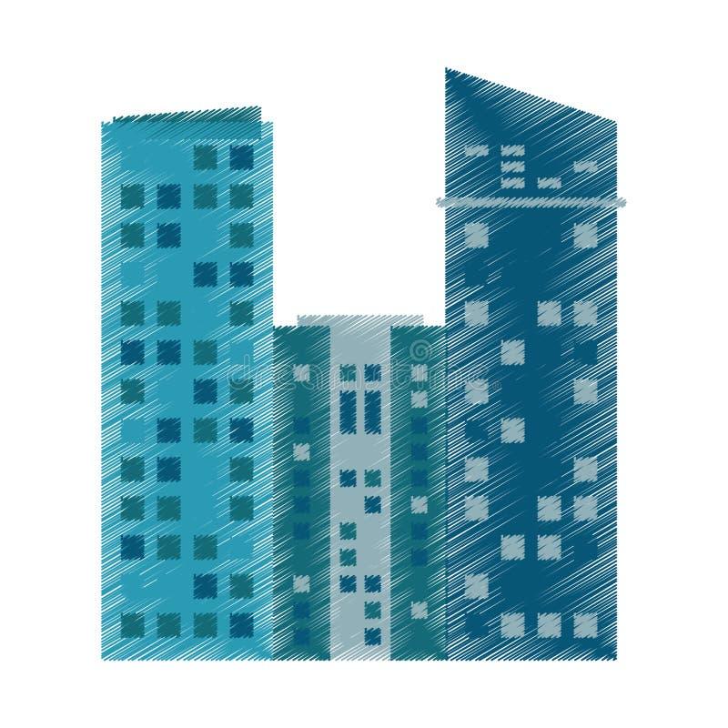 图画现代大厦的建筑学 皇族释放例证