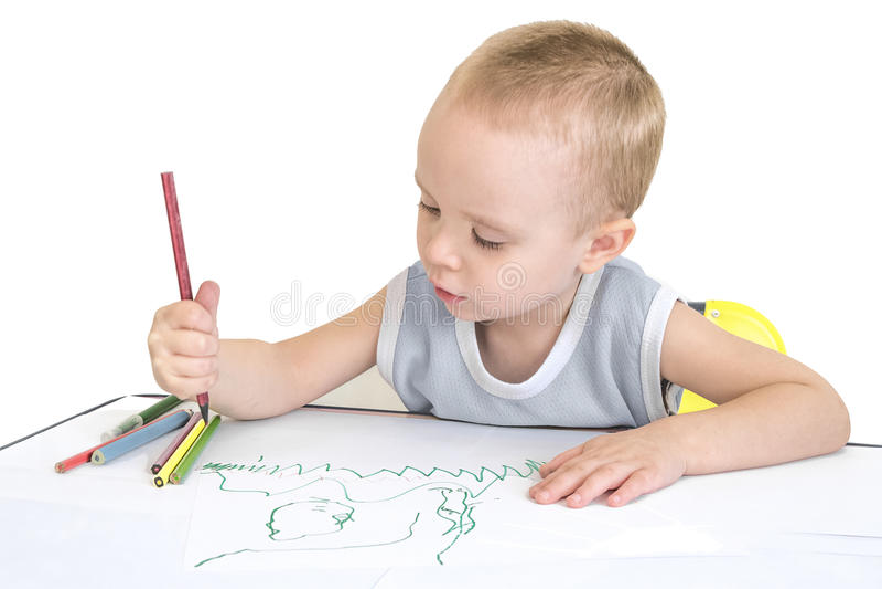 图画男孩 免版税库存图片