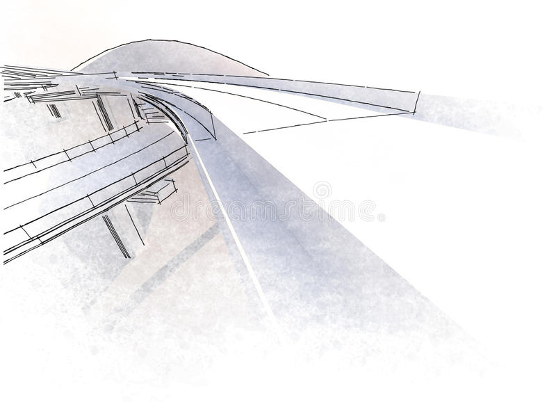 图画高架桥 免版税库存照片