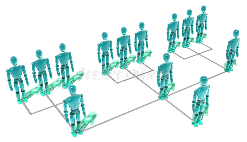 组织系统图 皇族释放例证