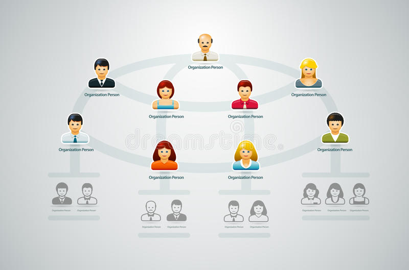 组织系统图 库存例证