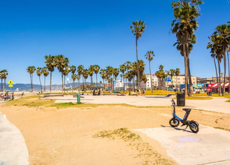 图od威尼斯海滩木板走道 免版税库存照片