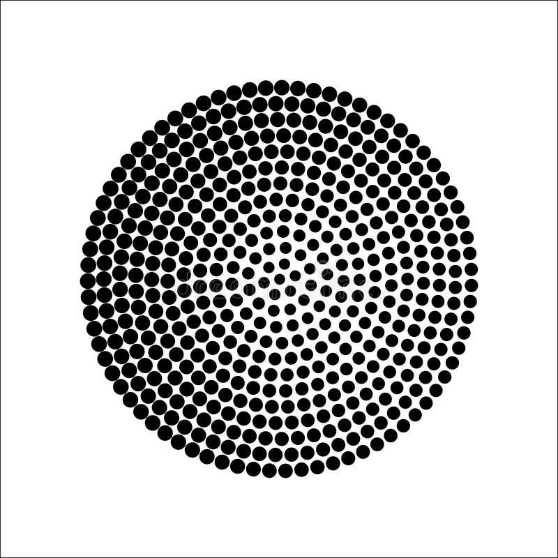 圆中间影调仿造传染媒介 向量例证