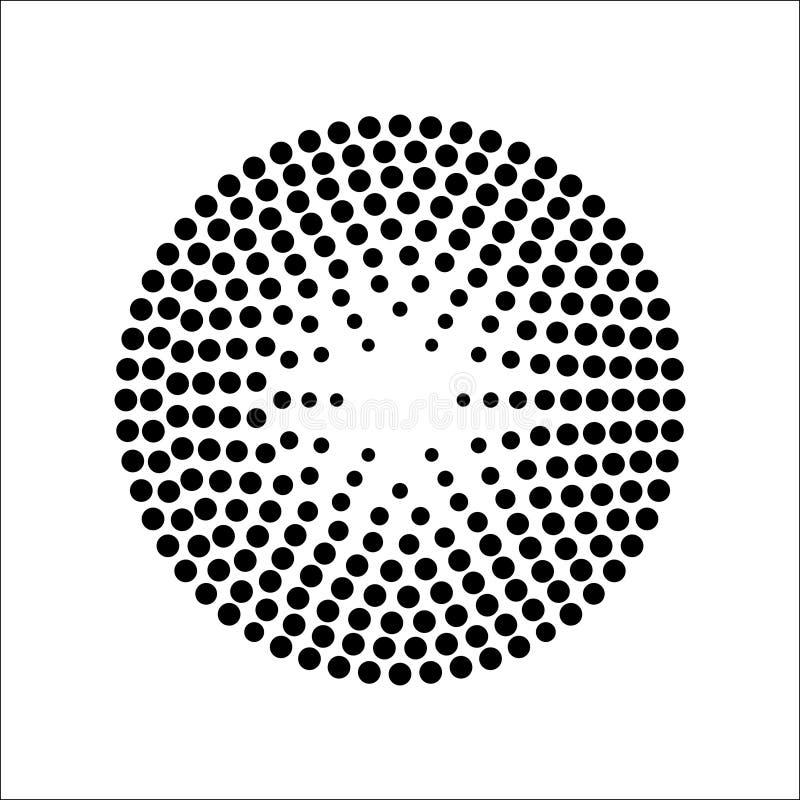 圆中间影调仿造传染媒介 库存例证