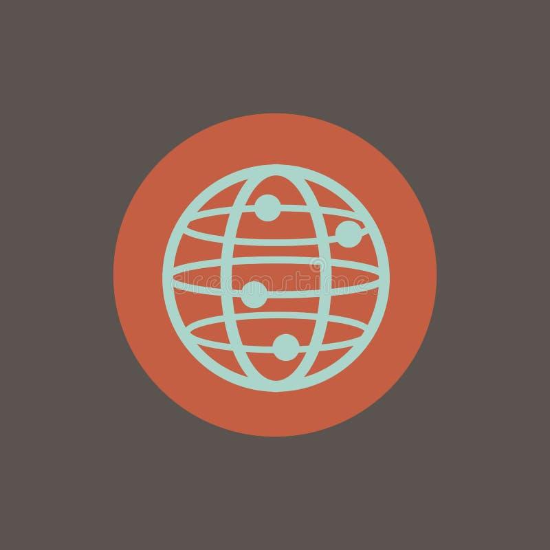 圆全球性世界的传染媒介  库存例证