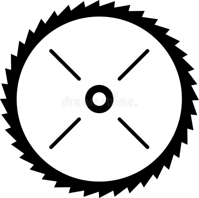 圆力量锯条传染媒介例证 库存例证