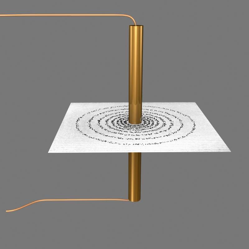 圆卷 向量例证