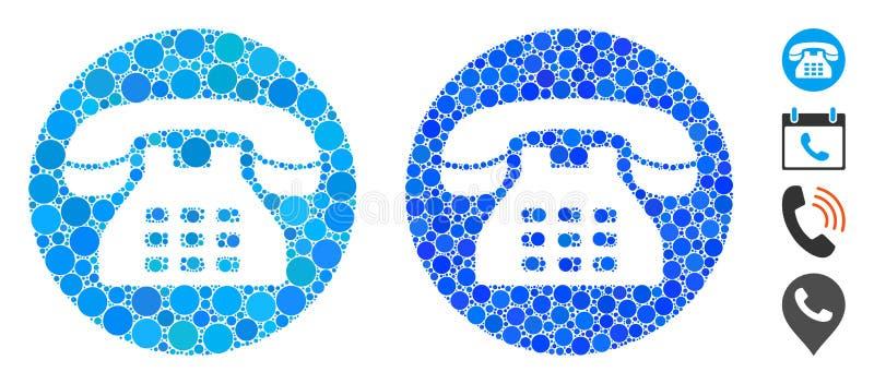 圆圈的电话号码马赛克图标 库存例证