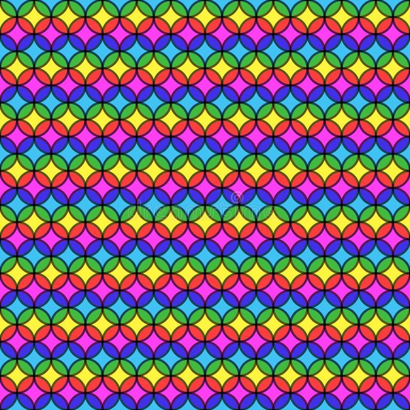 圆多彩多姿的条纹 向量例证