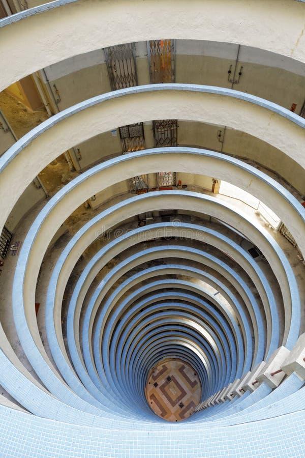 圆大厦在香港,赖达庄园 免版税图库摄影