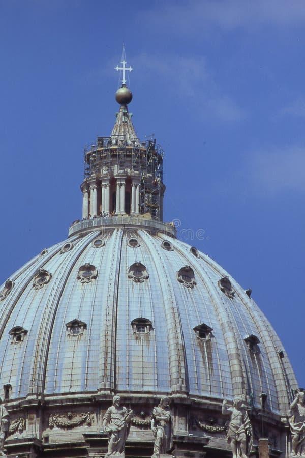 圆屋顶peters St梵蒂冈 免版税库存照片