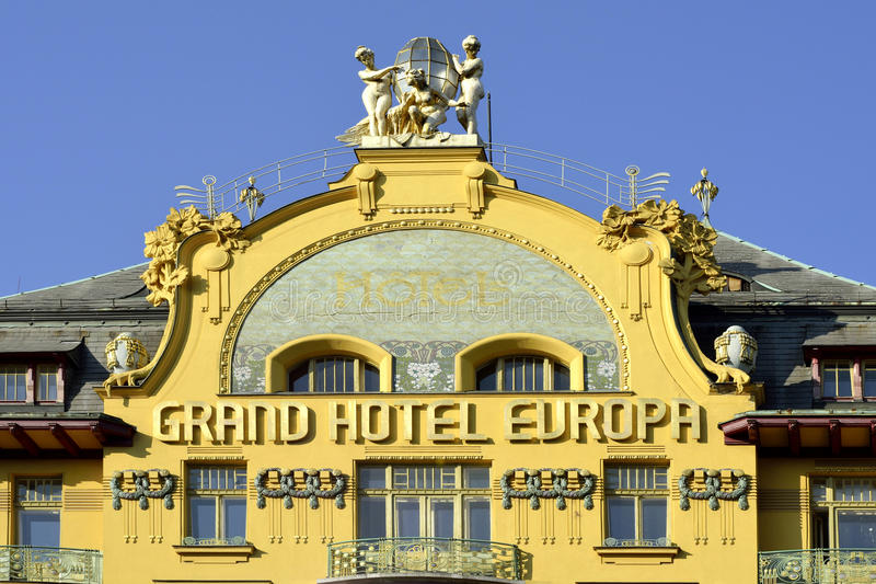 圆山大饭店欧洲在布拉格-捷克 免版税图库摄影