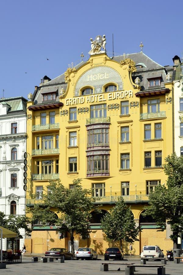 圆山大饭店欧洲在布拉格-捷克 库存图片