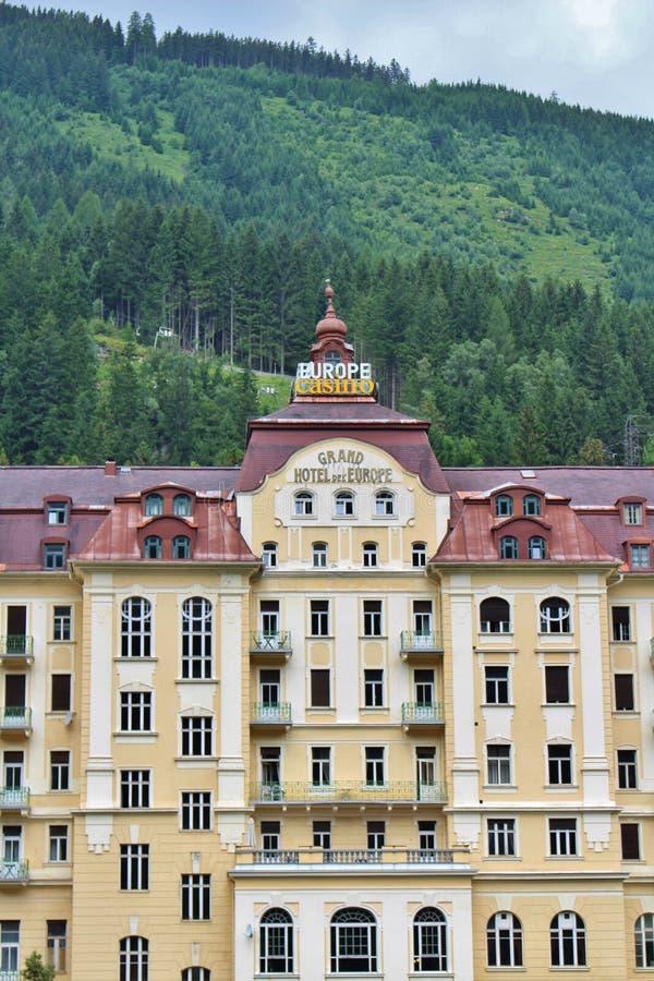 圆山大饭店de l `欧洲在坏Gastein,奥地利 免版税库存照片
