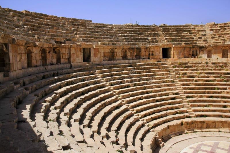 圆形剧场,杰拉什,约旦 免版税库存照片