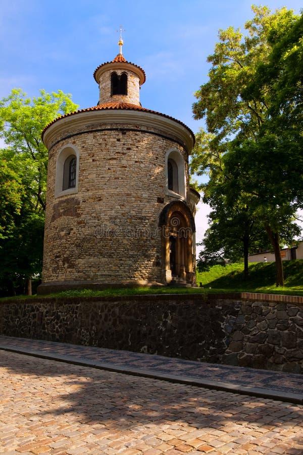 圆形建筑圣马丁, Visehrad,布拉格 免版税图库摄影