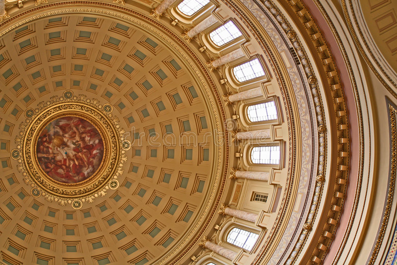 圆形建筑的国会大厦 库存照片