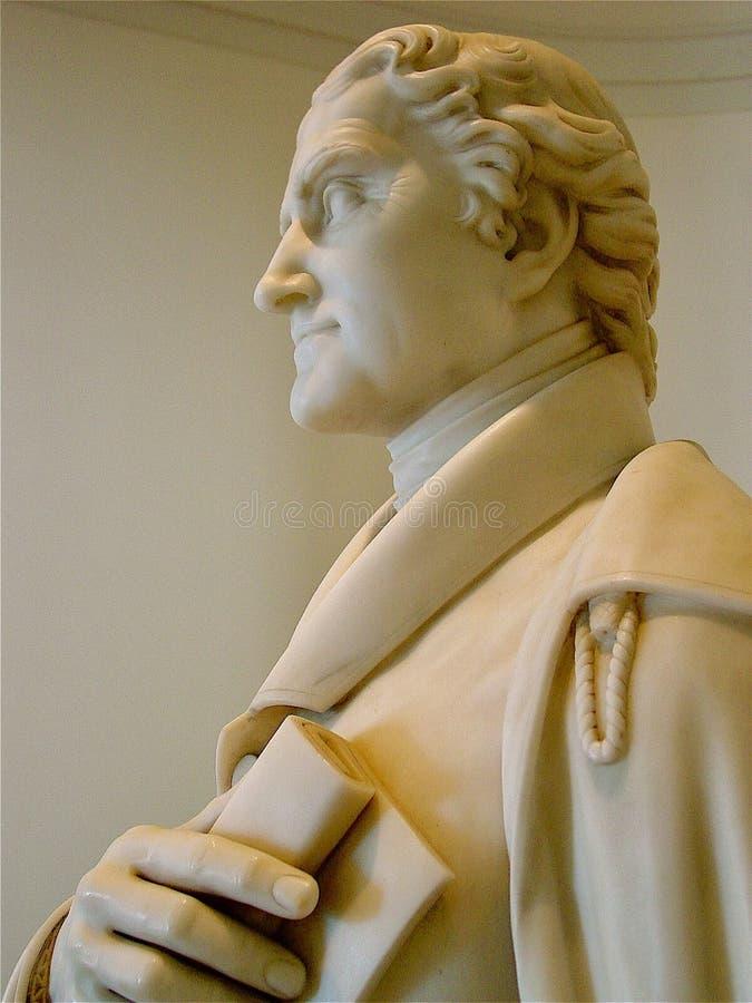 圆形建筑的托马斯・杰斐逊 免版税库存照片
