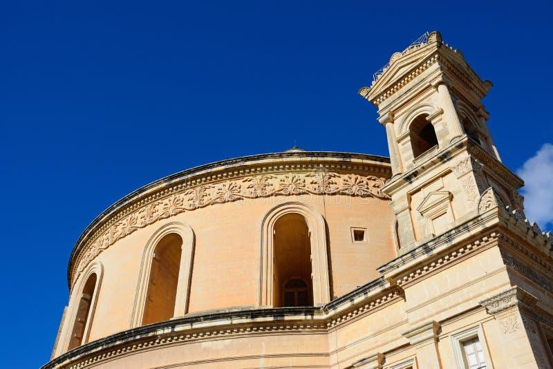 圆形建筑莫斯塔,马耳他 库存照片