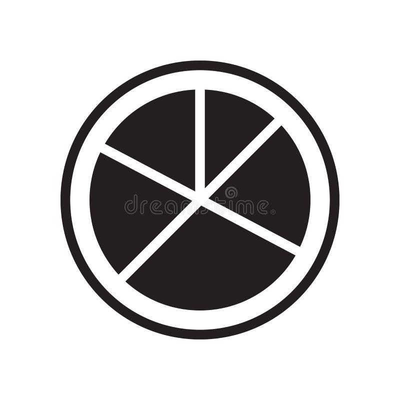 圆形统计图表组织象在w和标志隔绝的传染媒介标志 库存例证