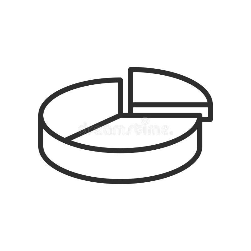 圆形统计图表统计象在whi和标志隔绝的传染媒介标志 皇族释放例证
