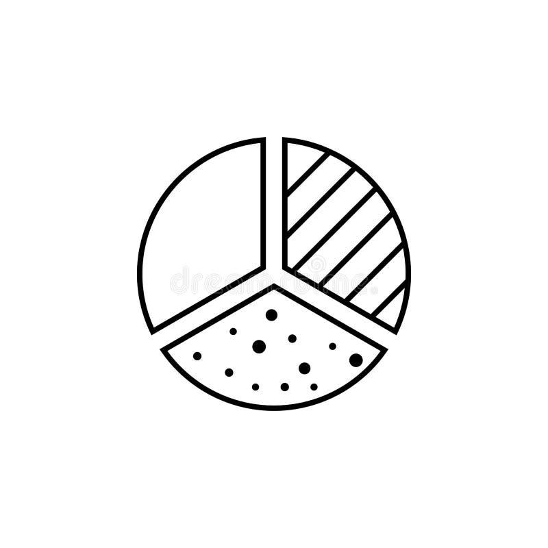 圆形统计图表stats财务概述象 财务例证象的元素 标志,标志可以为网,商标,流动应用程序使用, 皇族释放例证