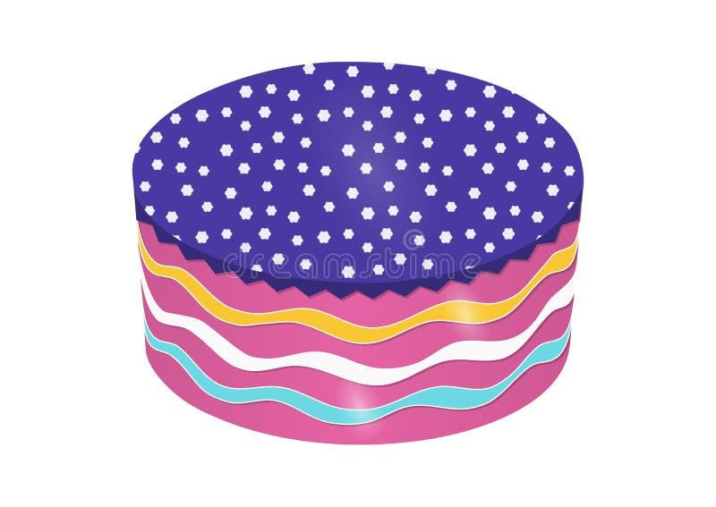 圆形蛋糕传染媒介 皇族释放例证