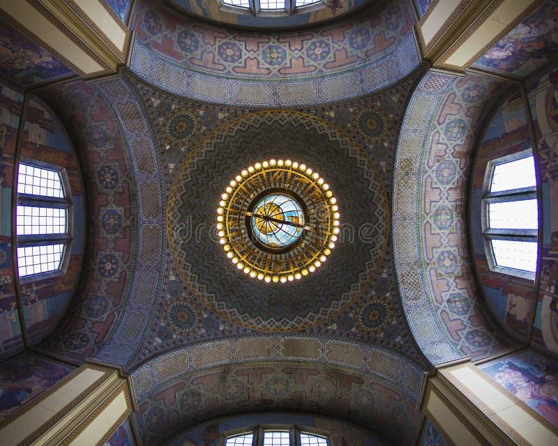 圆形建筑的公共建筑 免版税库存图片