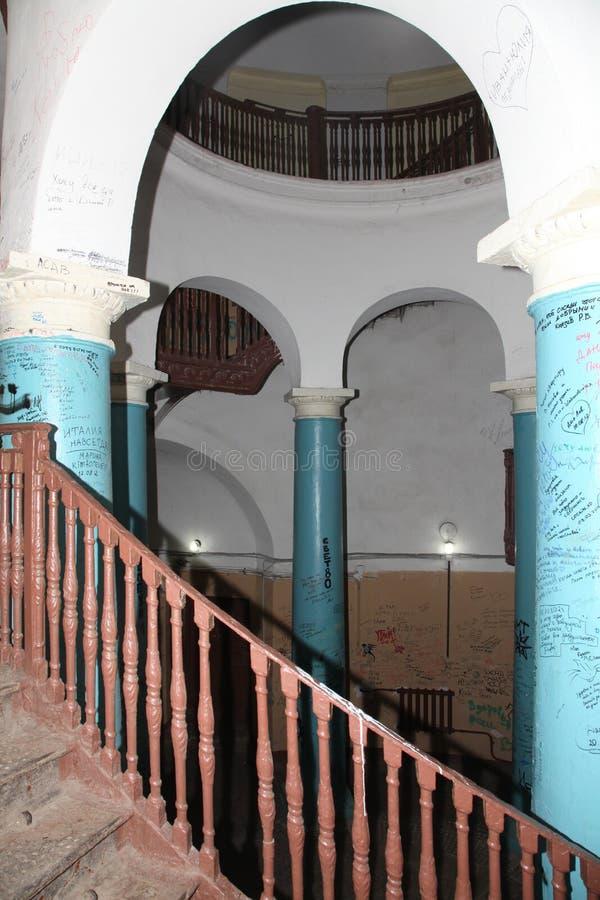 圆形建筑的圣彼德堡 免版税库存照片